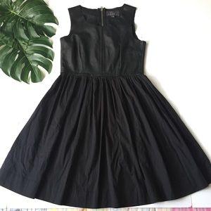 PJK black 100% Leather dress